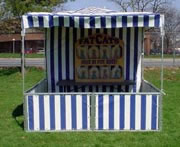 Carnival Booth - Full (Blue and White Stripe)