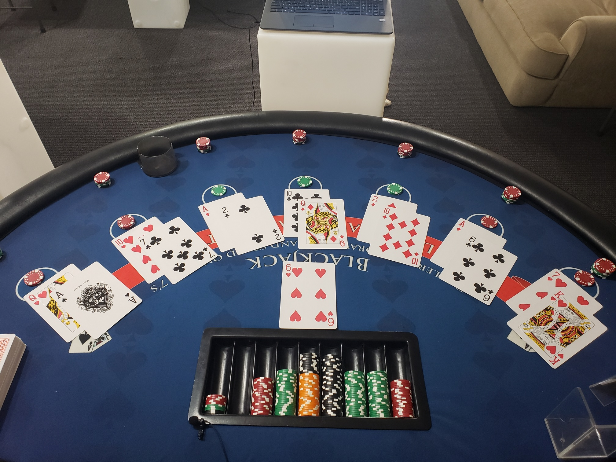 Virtual Blackjack Table
