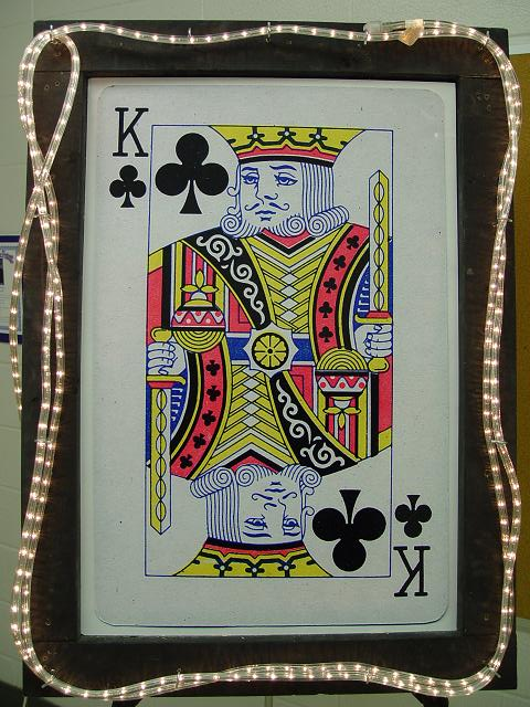Lighted King Playing Card