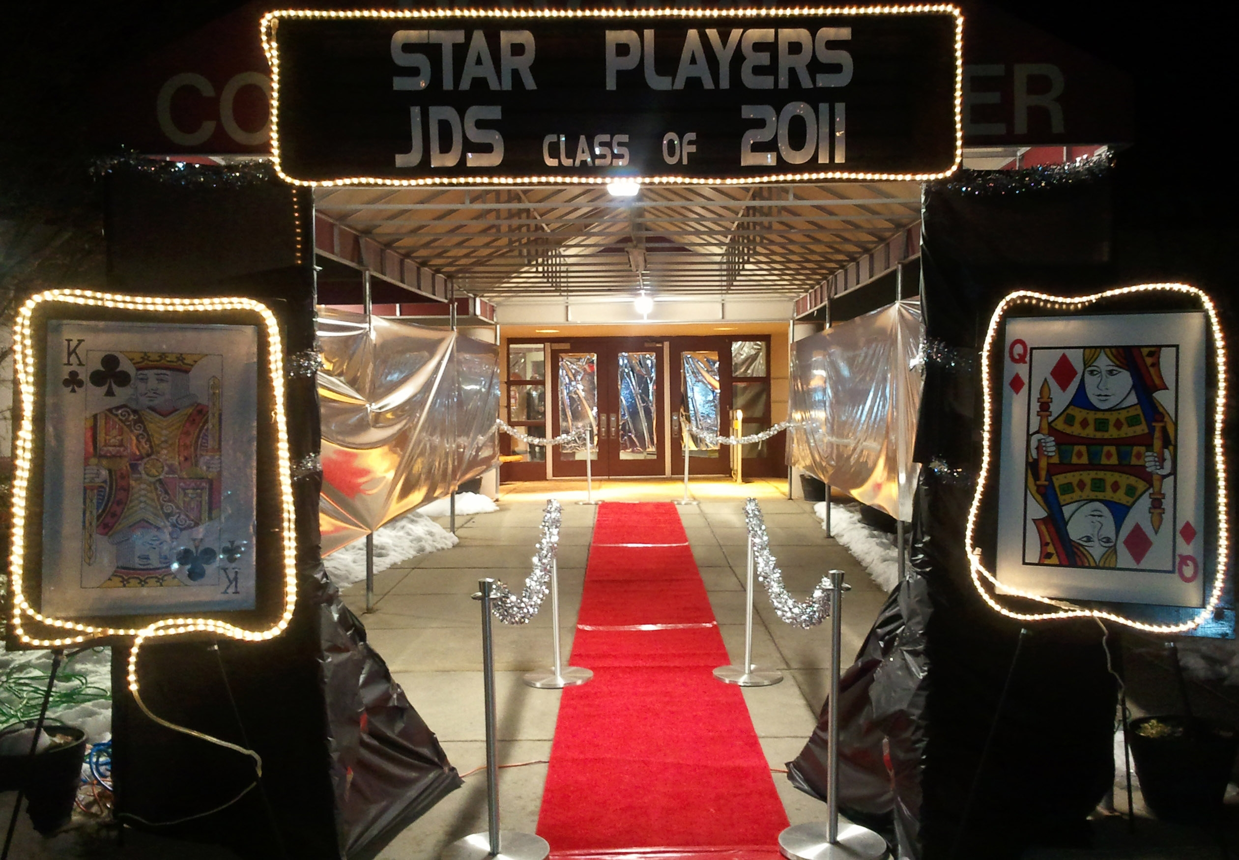 Marquee - Large - with Lighted Playing Cards