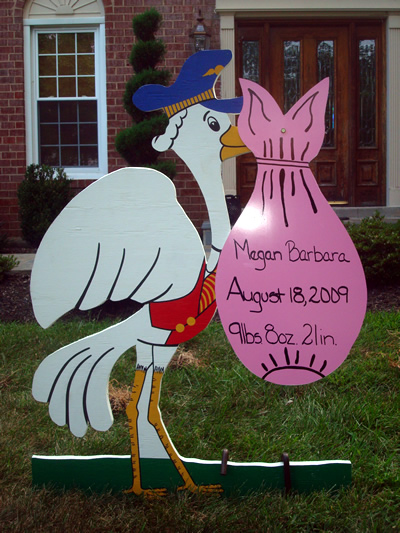Stork Signs, Yard Signs, Birth Announcements